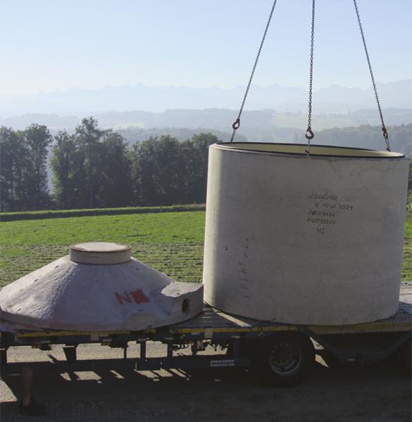 Böck Traunsteiner Silo Sickersaftbehälter Beton Konus Abdeckplatte DIN 11622-2 Stahlschalung